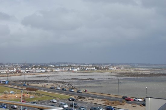 Jameson Court Apartments: View of Galway Bay from the top floor balcony.