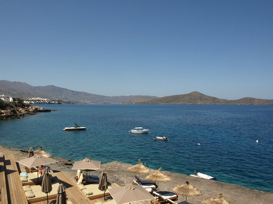 Aquila Elounda Village Hotel: view from beach bar 2