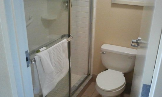 DoubleTree Suites by Hilton Melbourne Beach Oceanfront: Bathroom in standard room.