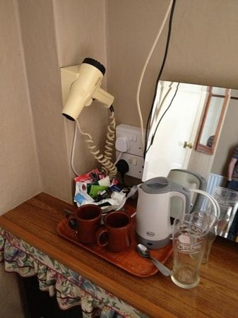 Caroldene Hotel: kettle and hair dryer in the room