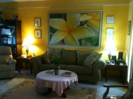 Mary's Boon Beach Resort and Spa: One Bedroom Condo living room with full kitchen...the suite life awaits you!