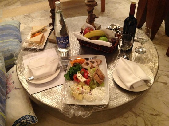 Domes of Elounda, Autograph Collection: Our late night snacks in the room on arrival