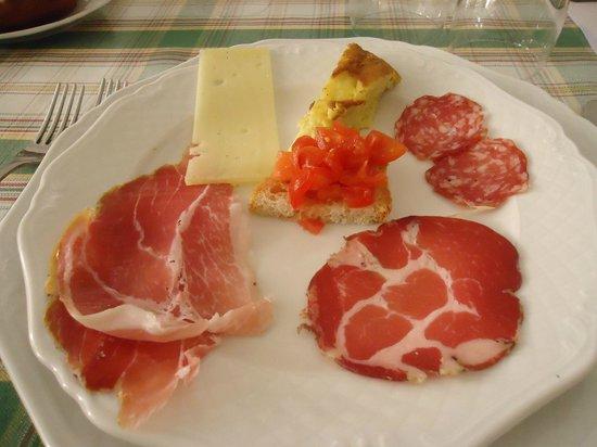 Osteria del Pievano: antipasto