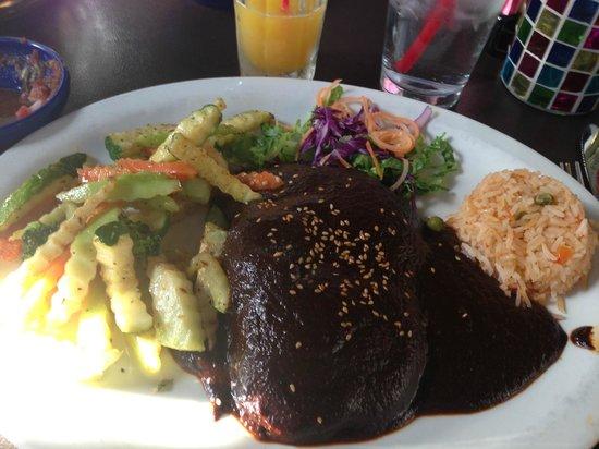 Veracruz Cafe: Mole with Chicken