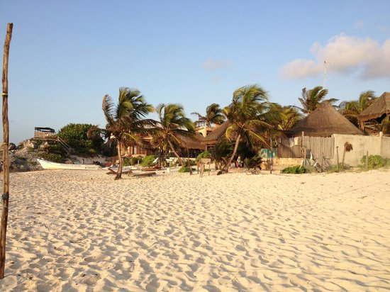 Hotel CalaLuna Tulum: view from beach
