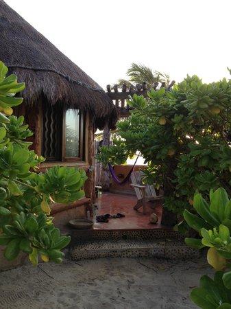 Hotel CalaLuna Tulum: patio