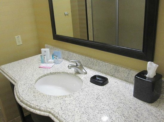 Hampton Inn & Suites Fort Worth Fossil Creek: bathroom sink area