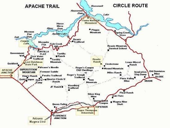 The actual route - Picture of Apache Trail Scenic Drive, Arizona ...