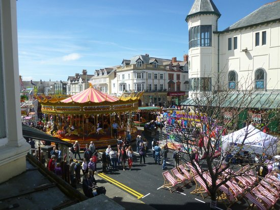 Indulgence Cafe: View from window during the annual Llandudno Victorian Extravaganza