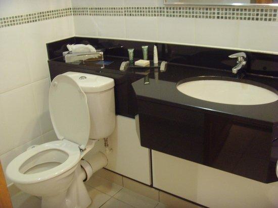 ฮิลตัน แมนเชสเตอร์ แอร์พอร์ท โฮเต็ล: Nice bathroom but no separate shower