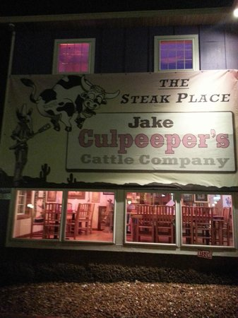 Jake Culpeepers – The Steak Place : Jake Culpeeper's Steak House Sign