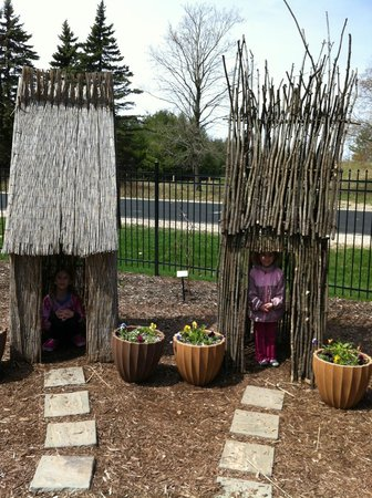 Bookworm Gardens: Two of the three little pigs homes