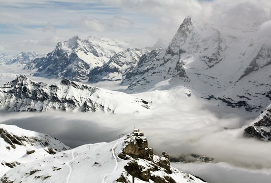 Sunny Days Bed & Breakfast: The Schilthorn (there is always some sun if you go up high enough)
