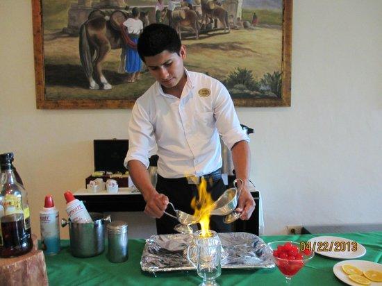 The Reef Coco Beach: Omar preparing Mayan Coffee