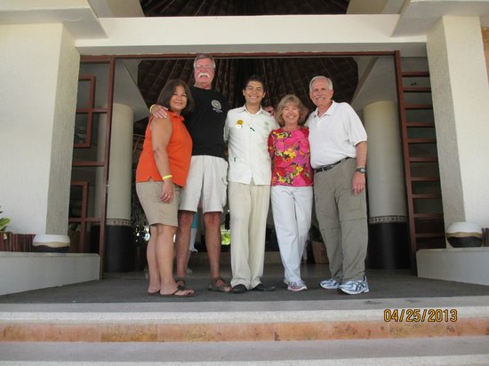 The Reef Coco Beach: David the bellboy and our family