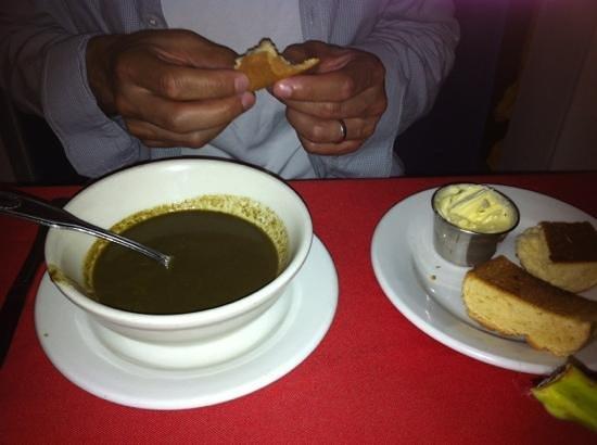 Ocean Grill Restaurant: callaloo soup