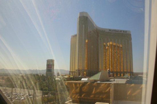 Luxor Las Vegas: view of Mandalay Bay from our room (day)