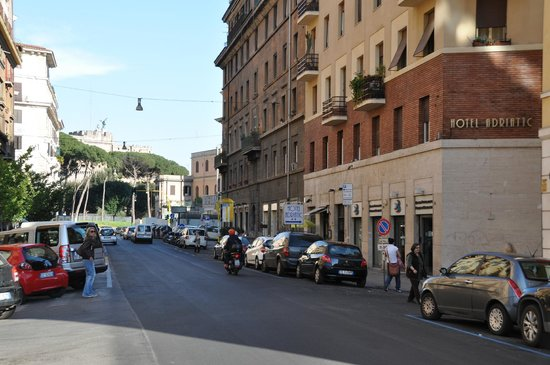 Adriatic Hotel : Outside, with Castel Sant'Angelo in the background