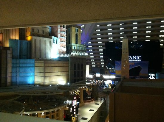 Luxor Las Vegas: view from our room looking out into the pyramid