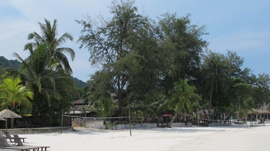 Redang Beach Resort: RBR: Looking at resort from beach