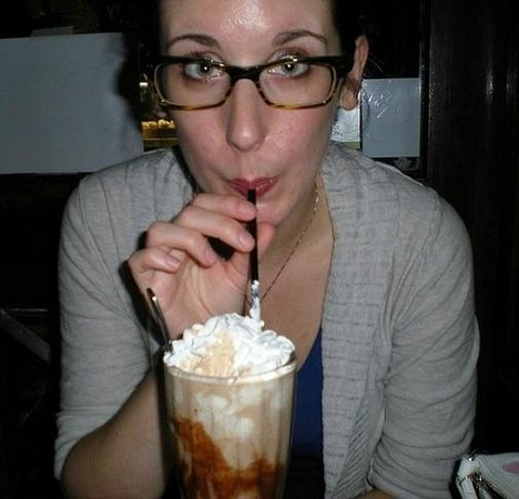 Kaminsky's Most Excellent Cafe : Couldn't finish the milkshake because it was huge... but so good!