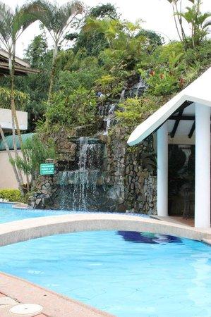 Waterfall and pool at Grand Hotel Santo Domingo
