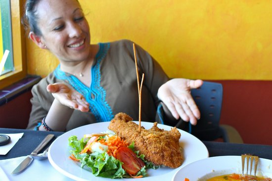 Loreto Islas: I was so excited and just couldn't wait to taste my fish.