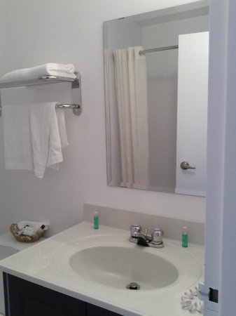 Acadian Inn: Totally updated, bright and clean bathroom