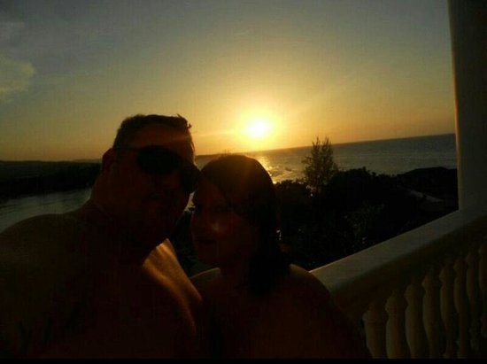 Grand Bahia Principe Jamaica: sunsets from our balcony