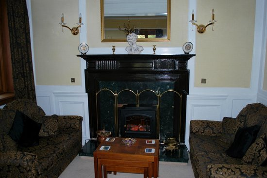 Ard-na-Coille Guest House: Fireplace in the guest lounge.