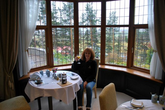 Ard-na-Coille Guest House: View from the dining room window before breakfast.