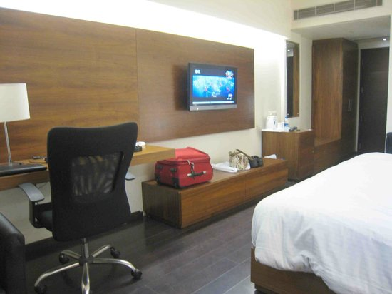 Sage Hotel: TV and dressing table etc in another of our rooms