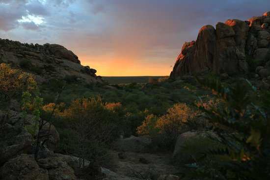Erongo Wilderness Lodge: Sunset