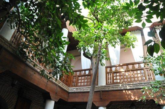 Riad Hidden : vue sur les chambres