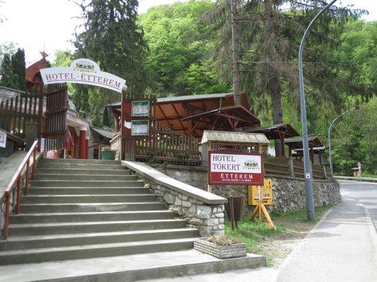 Tokert Panzio : Entrance to restaurant terrace