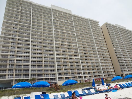 Majestic Beach Towers: rear of condo