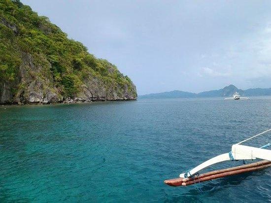 El Nido Resorts Miniloc Island: Arrivée dans la crique