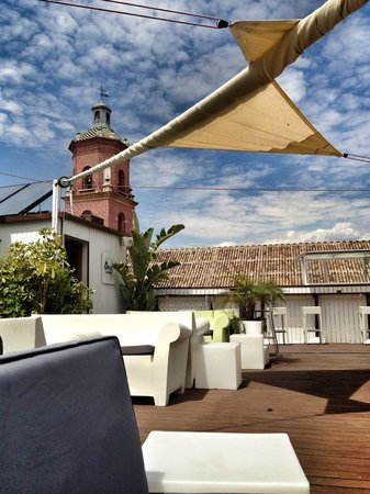 Oasis Backpackers' Hostel Malaga: Roof Top Bar