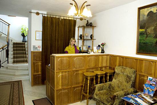 Hotel Pension Helios : Reception desk