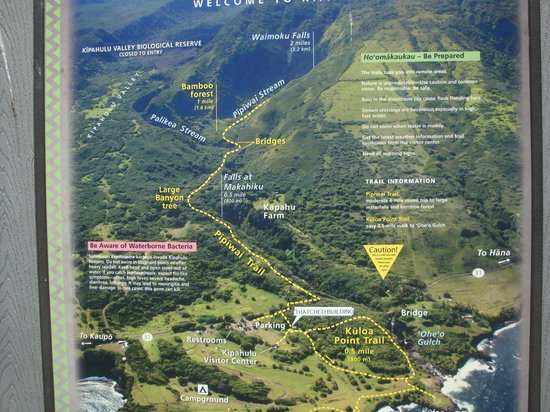 Haleakala National Park, Hawaï : map of the hike