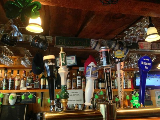 Ryan's Corner House: Great beer selection and if you look closely, a small sampling of their Irish Whiskey.