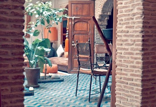 Riad Maipa: the eating/lounge area