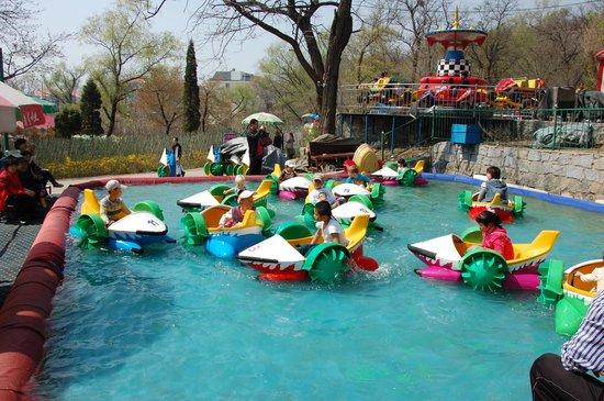 Jinjiangshan Park : The boats were fun!
