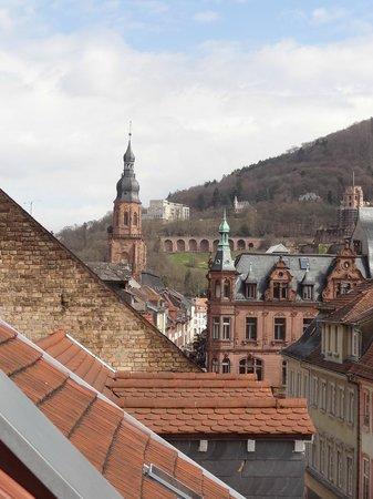 Hip Hotel: view of old heidelberg