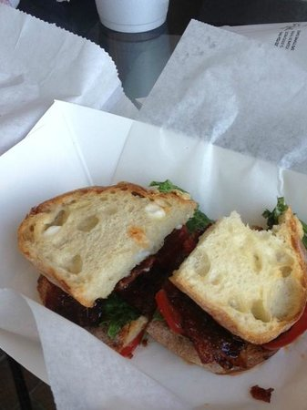 Jim's Small Batch Bakery: Candied bacon BLT