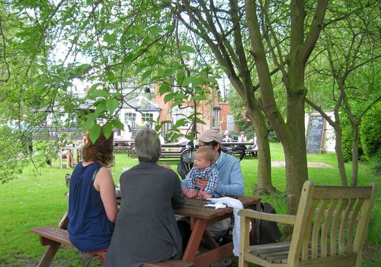 The Plough: our table under the tree