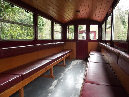 Cavan & Leitrim Railway: Inside replica carriage