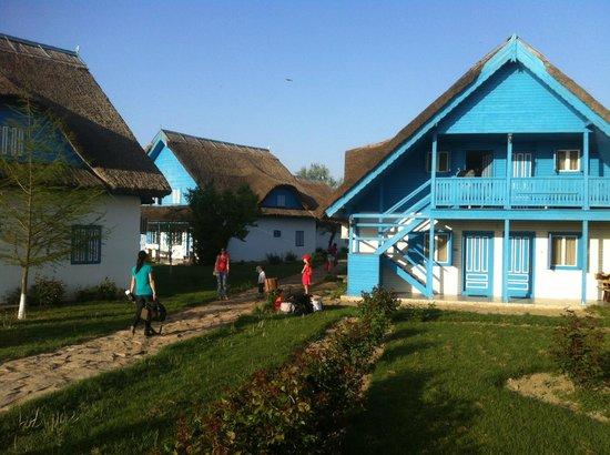 Cormoran Resort : Blue cabanas closeup