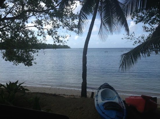 Vale Vale Beachfront Villas: yes - this is the actual view from the villa