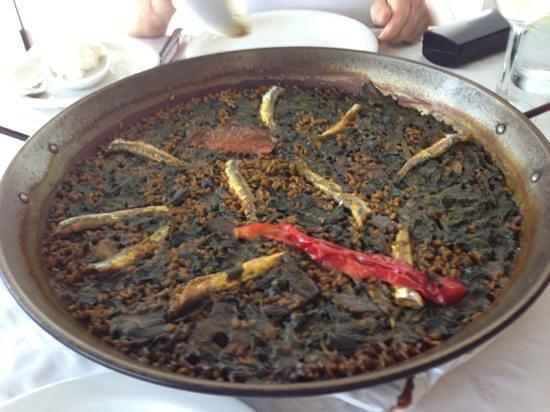 Hotel-Restaurante San Miguel: Lo mejor: arroz con espinacas y boquerones
